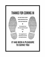 """""""Thank You"""" Floor Mats, Waffled Kraft Bleached Paper, 1 SKID (40 BOXES OF 500)"""