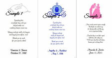 100 Personalized Custom Disney Cinderella Bridal Wedding Scrolls Scroll Favors