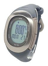 Nike Imara Heart Rate Monitor HRM SM0032 Grey Silicone Chronograph Watch w/Strap