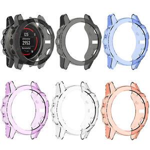 TPU Transparent Case Cover Shell Frame Bumper for Garmin Fenix 5X Smart Watch