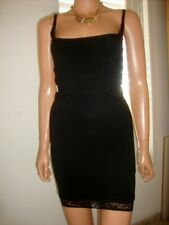Fabulous Black Stretch Nylon & Lace  Firm Control Slip Size L