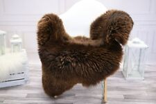 Genuine Natural Creamy Brown Sheepskin Rug, Pelt, Real Sheepskin  #JANHER16