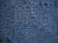 """Vintage Bedspread White Blue Ornate Country Farmhouse Full or Queen Bed 96x88"""""""