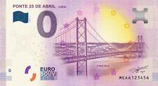Billet Touristique 0 Euro --- Lisboa, ponte 25 de Abril - 2018-1