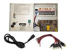 16 CH Power Supply CCTV Camera 18 Port 12V DC+Pigtail Auto Reset