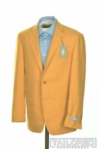 NWT - HART SCHAFFNER MARX Yellow 100% Wool Mens Blazer Sport Coat Jacket - 38 R