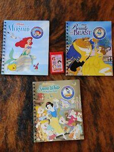 Story Reader Disney Princess Lot Beauty & the Beast, Snow White & Little Mermaid