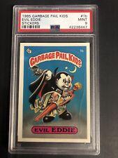 1985 Topps Garbage Pail Kids GPK Stickers Matte #1B Evil Eddie PSA 9