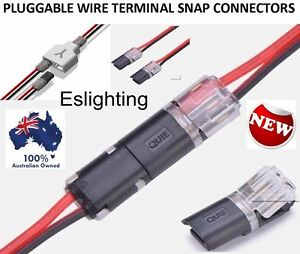 4X 12V WIRE CABLE SNAP PLUG CONNECTORS TERMINAL CONNECTIONS JOINERS CAR AUTO