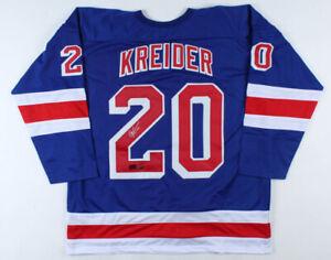 Chris Kreider Signed New York Rangers Jersey (Kreider COA)Alternate Team Captain