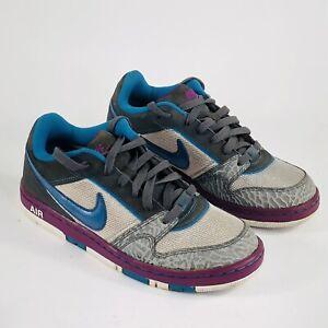 Nike Air Prestige III 3 Womens Size 8 Grey Purple Blue Athletic Shoes 394656-041