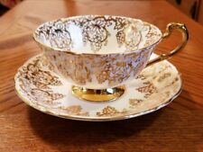 Royal Standard Fine Bone China Gold Grapes Grapevine Tea Cup & Saucer  England