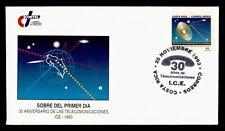 DR WHO 1993 COSTA RICA FDC TELECOMMUNICATION ANIV CACHET  g01150