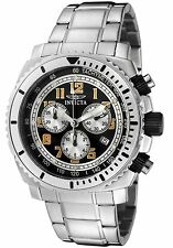 New Invicta Specialty Men's 0616 II Swiss Chronograph Black Dial Stainless Watch
