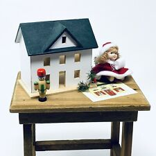 Byers Choice Accessory Table with Dollhouse and Doll Santa's Workbench 2010