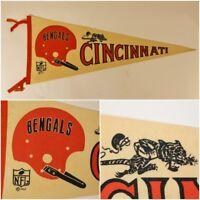 VTG Original CINCINNATI BENGALS NFL Football Man Cave Decor Pennant 1967