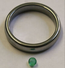 NATURAL LOOSE EMERALD HAND CUT GEMSTONE 3MM FACETED ROUND 0.25CT GEM EM33E