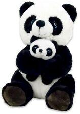 Pandabär sitzend mit Baby ca 20cm Plüsch Kuscheltier