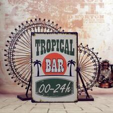 Metal Tin Sign Plaque Poster Bar Wall Pub Decor TROPICAL BAR Retro Kitchen