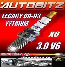 FITS SUBARU LEGACY 3.0 V6 2000-2003 BRISK SPARK PLUGS X6 YYTRIUM FAST DISPATCH