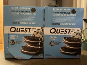 Quest Nutrition Protein Bar (23 Bars) Cookies & Cream exp 01/08/21 & 01/09/21