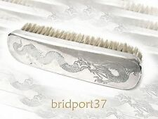 "Chinese Export Silver Jacket Brush,  L 6-7/8"" x W 1-3/4"""
