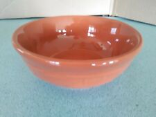 Longaberger Pottery Cereal Bowl Spice orange 26 oz Woven Traditions NEW w/box