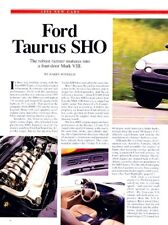 1996 Ford Taurus SHO Original Car Review Report Print Article J987