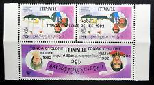 TUVALU Wholesale 1982 Tonga Relief on Royal Wedding Inverted OPT U/M FP7396