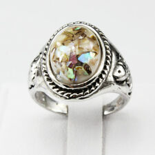 Shells Amber Gemstone New  Jewelry 925 Silver Plated Men Women Ring Size 9