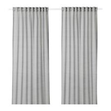 HILJA Curtains, 1 pair, gray, 57x98 ½ ""
