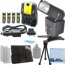 XIT XT700EX Flash, 4AA 3100 Mah Battery, Home/Car Charger Kit for Canon T5 T5i