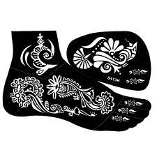 Henna Tattoo Schablone Kina Fußbemalung Dövme Fuß Rechts Mehndi
