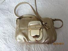Michael Kors Charlton Leather GOLD Crossbody Handbag Buckle Adjustable Strap