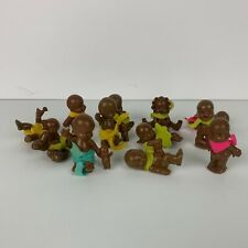 Vintage 1991 Hasbro L'il Babies Lil Baby Mini Toys Lot of 12 w/ Collectors Sheet