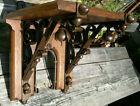 Victorian Arts & Crafts Oak and Wrought Iron Bracket Shelf Support Corbel c1880