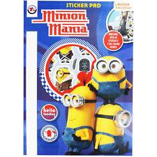 MINION Mania Minions Sticker Pad A4 Hardback Pad Stickers + Scenes RRP £3.99