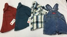 Boys 12-18 18 18-24 Month Boys Collared Shirt Lot Guess Overalls