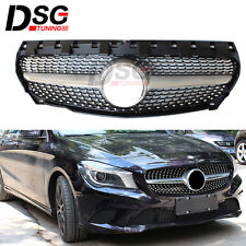 For Mercedes Benz CLA W117 CLA45 CLA200 CLA260 2014-15 ABS Front Dimond Grille