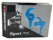 Monster iSport In-Ear Bluetooth Wireless Headphones High Performance Audio, Blue