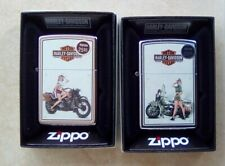 More details for zippo hd harley davidson 1940's wwii us army and marines pinup lighter set