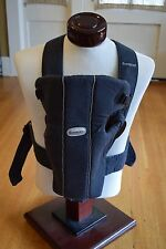 Baby Bjorn Original Baby Infant Carrier Black Cotton 8-24 Lbs Front/Back Facing