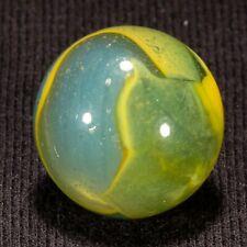 "LOVELY Peltier Rainbo Foggy Blue Vintage Marble, .65"" nm fracture, hawkeyespicks"