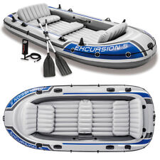 Schlauchboot Set Excursion 5 + Paddel + Pumpe Angelboot für 5 Personen von INTEX