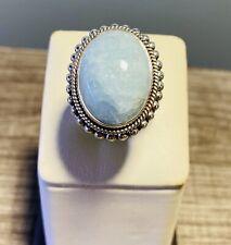 Designer Doug Paulus Sterling Silver Blue Stone Ring Size 9