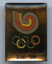 Malaysia Seoul 1988 Olympic Games NOC Badge Pin Nice Grade !!!
