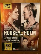 UFC 193 OFFICIAL Event Promo Poster - ROUSEY vs HOLM-- RARE!! - 22x28