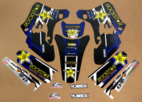 2003 - 2004 YAMAHA YZ 250F 450F YZ250F YZ450F GRAPHICS BLUE BLACK ROCKSTAR DECAL