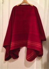 Peru Andes: Red Alpaca Poncho handwoven in the community of Canchis