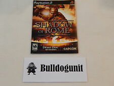 Shadow of Rome Playstation 2 Ps2 Game Demo Sampler Not for Resale